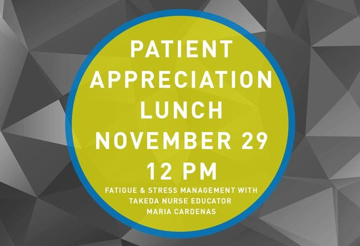 Patient Appreciation Lunch November 29th at 12PM