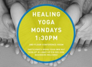 Healing Yoga 1:30PM - 2:30PM on Mondays in November