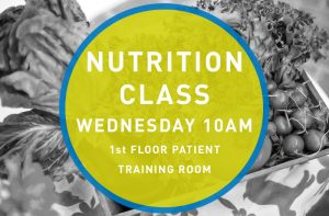 Nutrition Class Wednesdays at 10 AM