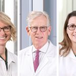 Drs. Flynn and Frame with Aimee Kehres